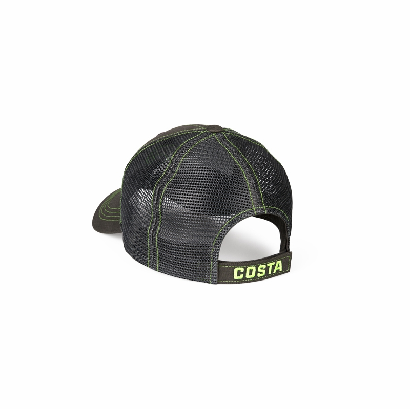 ebd31e54 Costa Del Mar Neon Trucker - Graphite Twill w/ Neon Blue Stitching