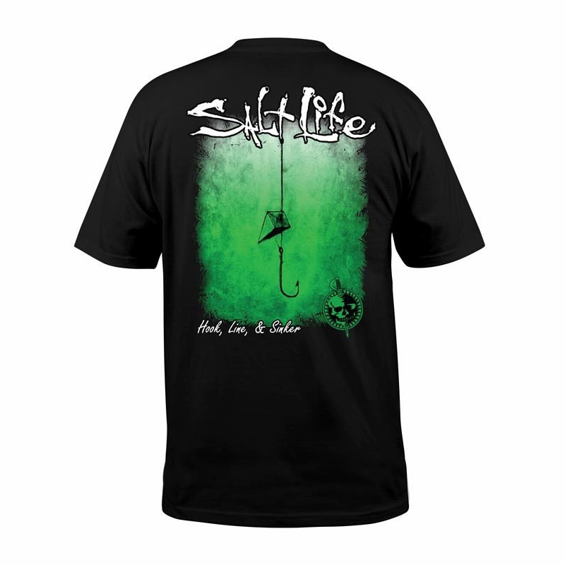 21eef3890042 Salt Life Hook Line & Sinker Fade Short Sleeve T-Shirts - TackleDirect