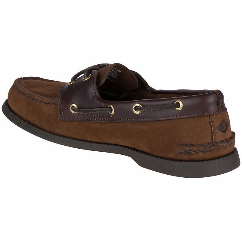 special for shoe free shipping on feet at Sperry Authentic Original Boat Shoes - Brown Buck - 11.5