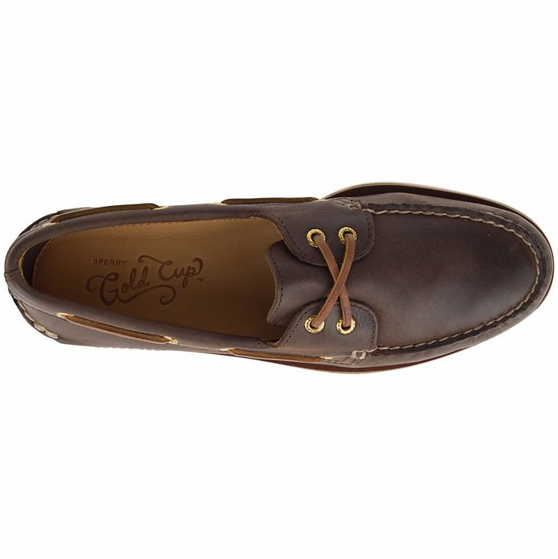 46c208be9a1 Sperry Gold Authentic Original 2-Eye Boat Shoe - Brown - 12M ...