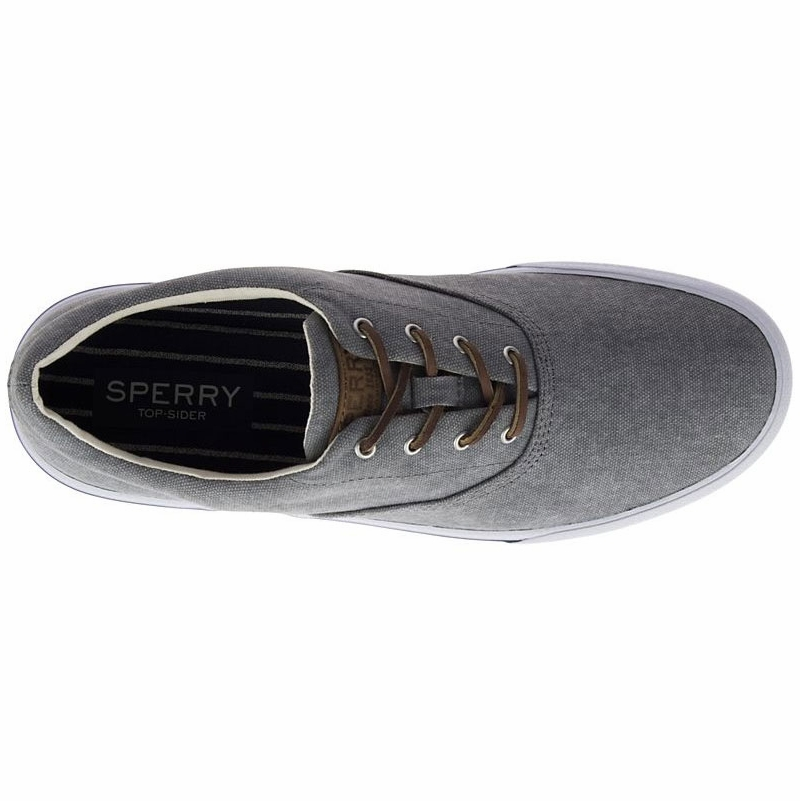 3dc20d72ba74 Sperry Men s Striper II CVO Salt Washed Sneaker - Grey - 14 ...