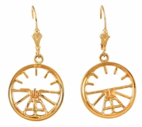 14K Gold Attitude Indicator Earrings