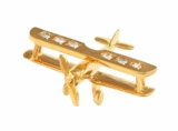 14K Gold Diamond Airplane Pendant Jewelry | <font color=red>Santa Saver</font>