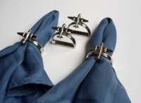 Airplane Napkin Rings - Set of 4