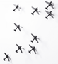 Airplane Wall Décor | Black | Set of 3