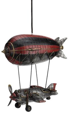 Whimsical Airship with Airplane