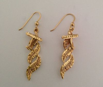 Airshow 14k Gold Earrings   Closeout Special