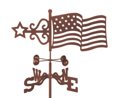 American Flag Steel Weather Vane