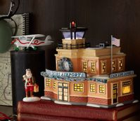 Blue Skies Airport Aviation Christmas Village Set