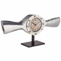 Deco Design Cropped Propeller Mantel Clock | <font color=red>Santa Saver </font color>