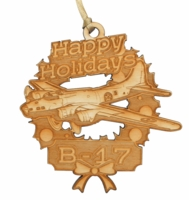 B-17 Flying Fortress Wooden Ornament