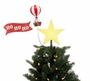Santa's Animated Lit Hot Air Balloon Tree Topper