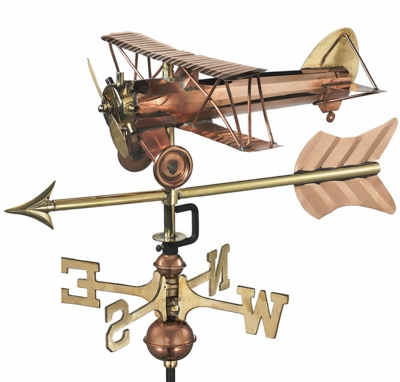 Biplane Weather Vane with Arrow