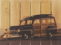 Classic Woodie Wagon Indoor Outdoor Art - Large