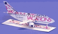 Commercial Jet Airplane Business Card Sculpture