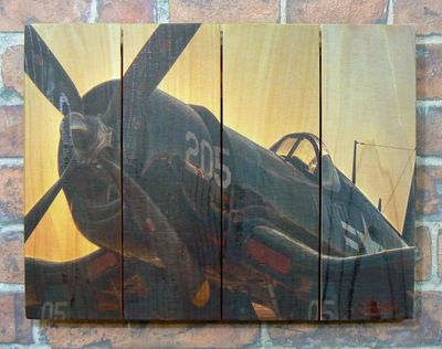 Corsair Airplane Indoor Outdoor Art - Medium