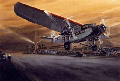 Ford Tri-Motor Airplane Art Print