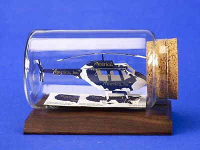 Helicopter Business Card Sculpture