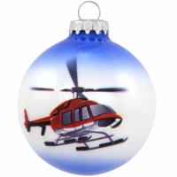 Helicopter Ornament| <font color=red>Santa Savings </font color>