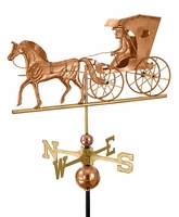 Horse and Country Doctor Weather Vane