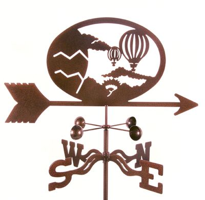 Steel Hot Air Balloon Weather Vane Cool Aviation Outdoor