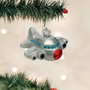 Jet Airplane Glass Ornament | Just Reduced