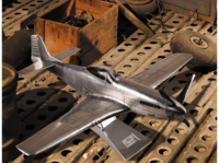 Large Aluminum P-51 Mustang Model