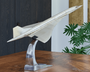 Large Aluminum Concorde Model Aircraft