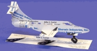 Lear Jet Airplane Business Card Sculpture