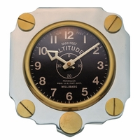 Metal Altimeter Wall Clock - Aluminum | <font color=red>Santa Saver </font color>