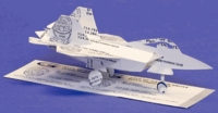 Military Jet Airplane Business Card Sculpture