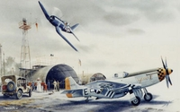 P-51 Mustang Airplane Art Print