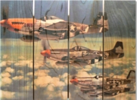 P-51 Mustangs Indoor Outdoor Art - Medium