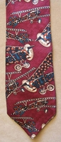 Paisley Print Silk Airplane Neck Tie