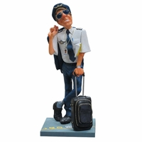 Humorous Pilot Sculpture