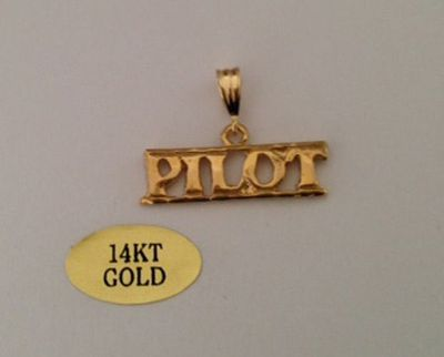 14k Gold Pilot Tie Tack | Closeout Special