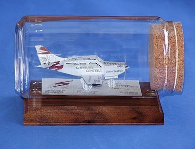 Piper Style Airplane Business Card Sculpture