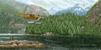 Piper Cub Float Plane Print