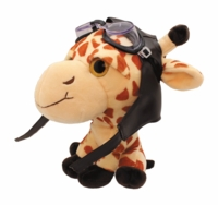 Plush Aviator Giraffe