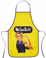 Rosie The Riveter Apron with Set of 2 Hot Pads