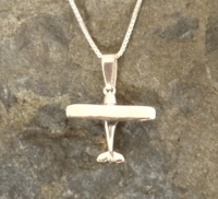 Silver Cessna Pendant with Necklace