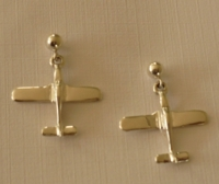 Silver Lo Wing Airplane Earrings