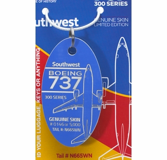 Former Southwest Airlines B737 skin Luggage Tag