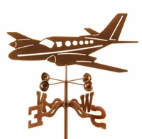 Twin Engine Airplane Weather Vane