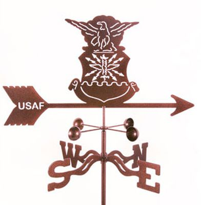 Air Force Emblem Weather Vane - Traditional