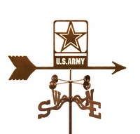 US Army Emblem Weather Vane - Modern