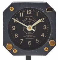 Vintage Altimeter Desk Clock
