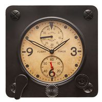 Large Vintage Flight Timer Clock