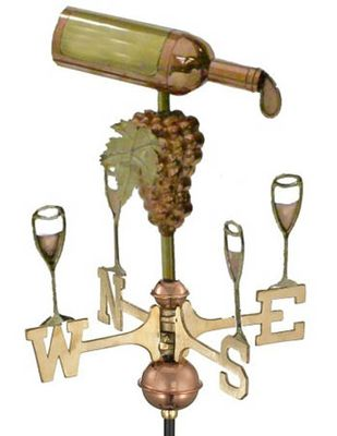 Wine Bottle Weathervane, Garden Size