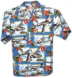 41c0ad6756149b Classic WW II Airplanes Aloha Shirt | Authentic Hawaiian Shirts